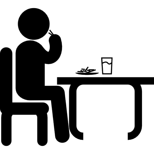 man-sitting-in-front-of-a-table-eating-and-drinking-while-having-lunch_318-62566
